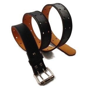 Other - Genuine Leather Black Double Holed Belt XL - XXXL